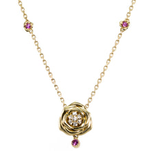Load image into Gallery viewer, Rose Pink Sapphire & Diamond Necklace