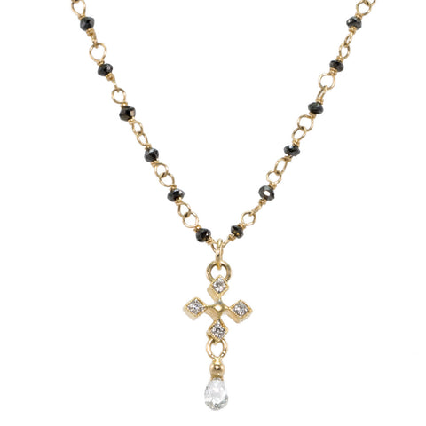 Gothic Diamond Cross Necklace