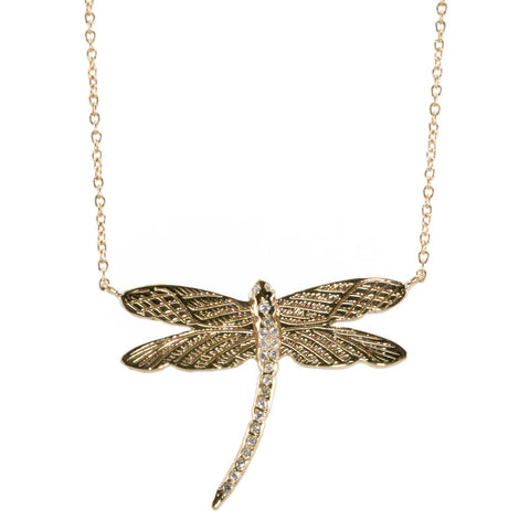 Dragonfly Necklace with Diamonds