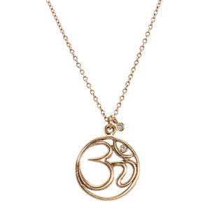Cut Out Ohm Diamond Necklace