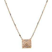 Load image into Gallery viewer, Pyramid Diamond Necklace