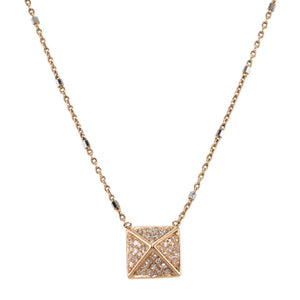 Pyramid Diamond Necklace
