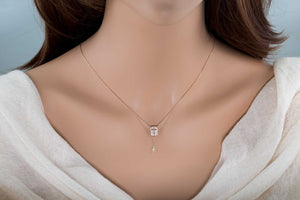 Cut Out Cross Diamond Necklace