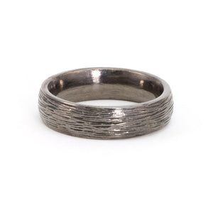 Men's Textured Band - Sterling Silver