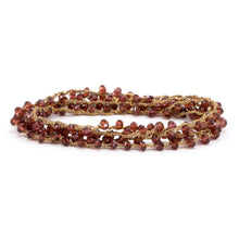Load image into Gallery viewer, Red Garnet Chain Wrap Around
