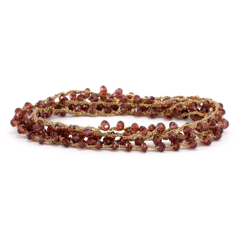 Red Garnet Chain Wrap Around