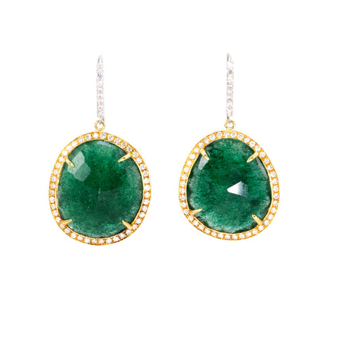 Emerald Slice Diamond Earrings