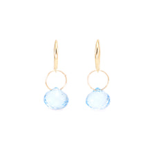 Load image into Gallery viewer, Blue Topaz Drop Earrings