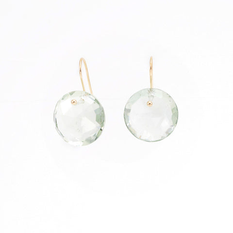Prasiolite Pinned Earrings