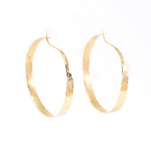 Organic Gold Hoop Earrings