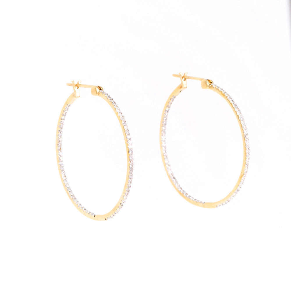 In & Out Diamond Hoop Earrings