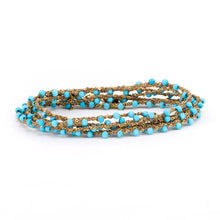 Load image into Gallery viewer, Turquoise Chain Wrap Around