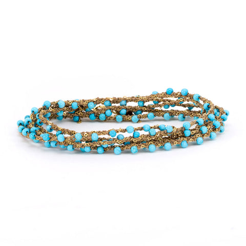 Turquoise Chain Wrap Around
