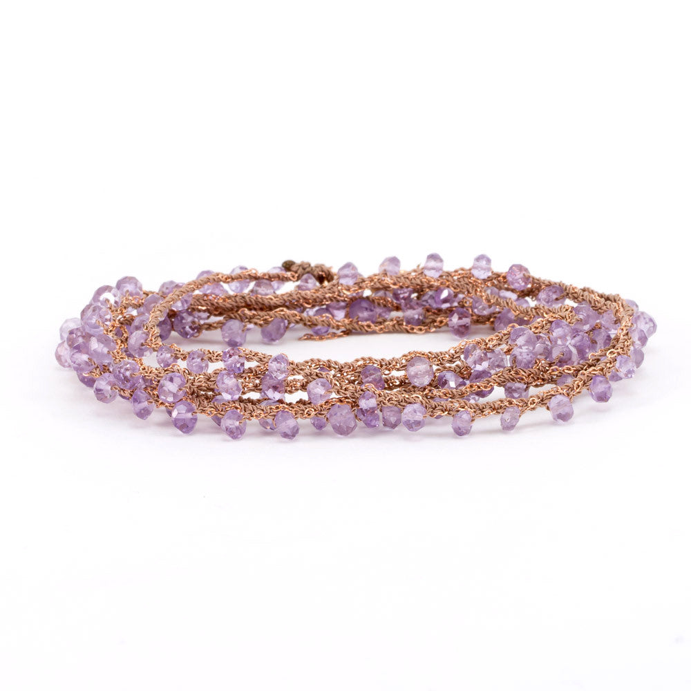 Amethyst Chain Wrap Around