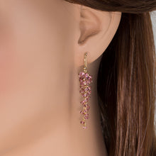Load image into Gallery viewer, Pink Tourmaline Grape Cluster Earrings