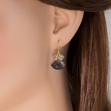 Load image into Gallery viewer, Rutilated Quartz Drop Cluster Earrings