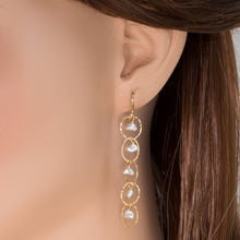 Load image into Gallery viewer, Pearl Drop Link Earrings