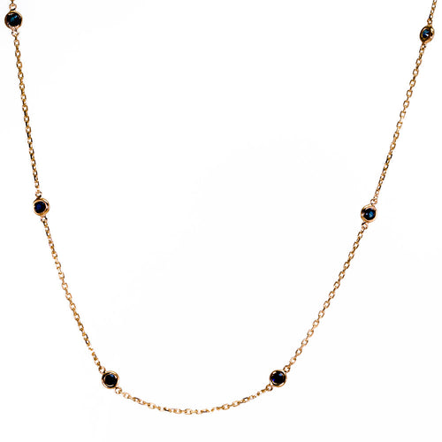 Blue Sapphire by the Inch Necklace