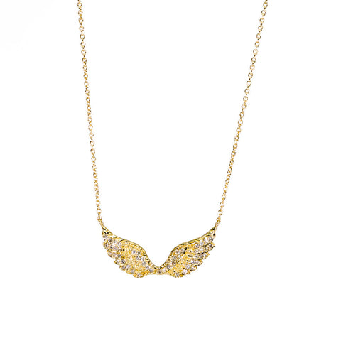 Wings Necklace with Diamonds