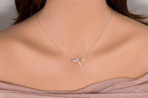 Heart Beat Diamond Necklace