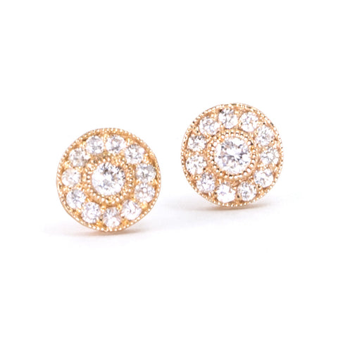 Large Vintage Diamond Studs
