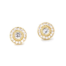Load image into Gallery viewer, Small Vintage Diamond Stud Earrings