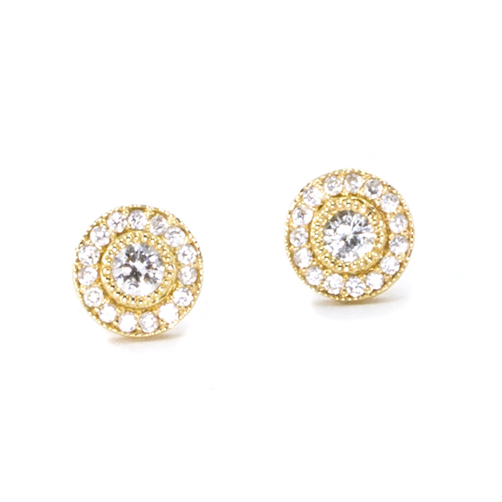 Small Vintage Diamond Stud Earrings