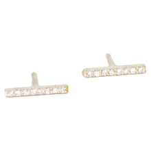 Load image into Gallery viewer, Diamond Bar Stud Earrings