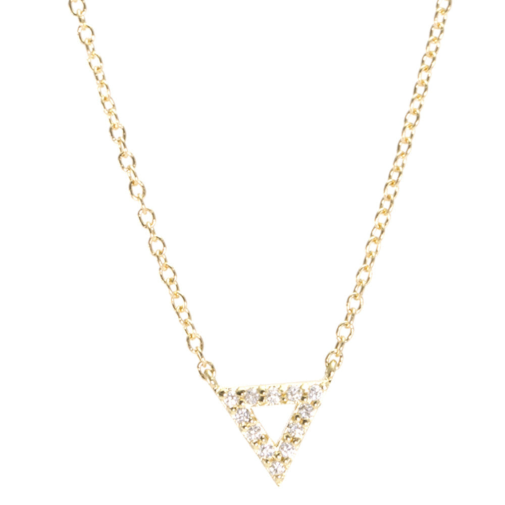 Open Triangle Diamond Necklace