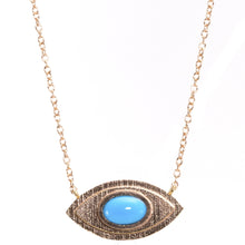 Load image into Gallery viewer, Large Evil Eye Turquoise Necklace