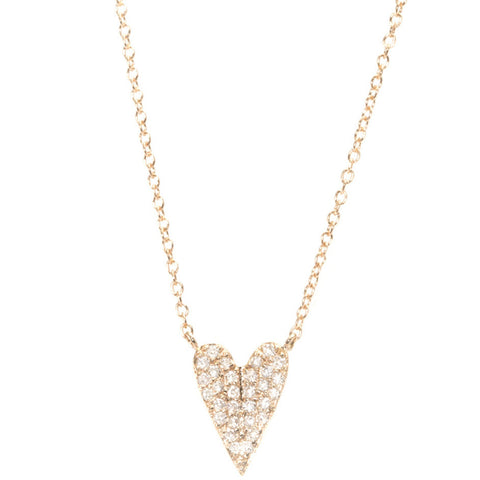 Folded Heart Diamond Necklace