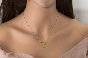 Four Elements Disc Diamond Necklace