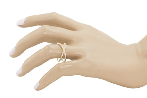 Slim Criss Cross Diamond Ring