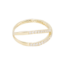 Load image into Gallery viewer, Slim Criss Cross Diamond Ring