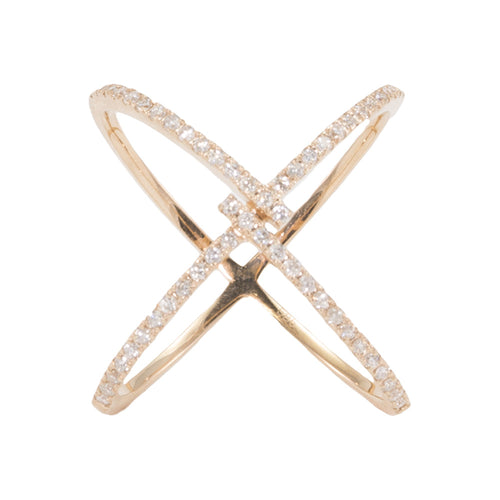 Criss Cross Wrap Diamond Ring