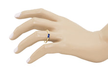 Load image into Gallery viewer, Baguette Blue Sapphire Ring