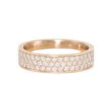 Load image into Gallery viewer, Triple Row Pave Diamond Band