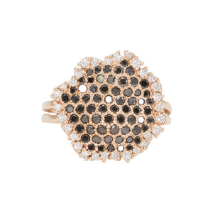 Honeycomb Black Diamond Ring
