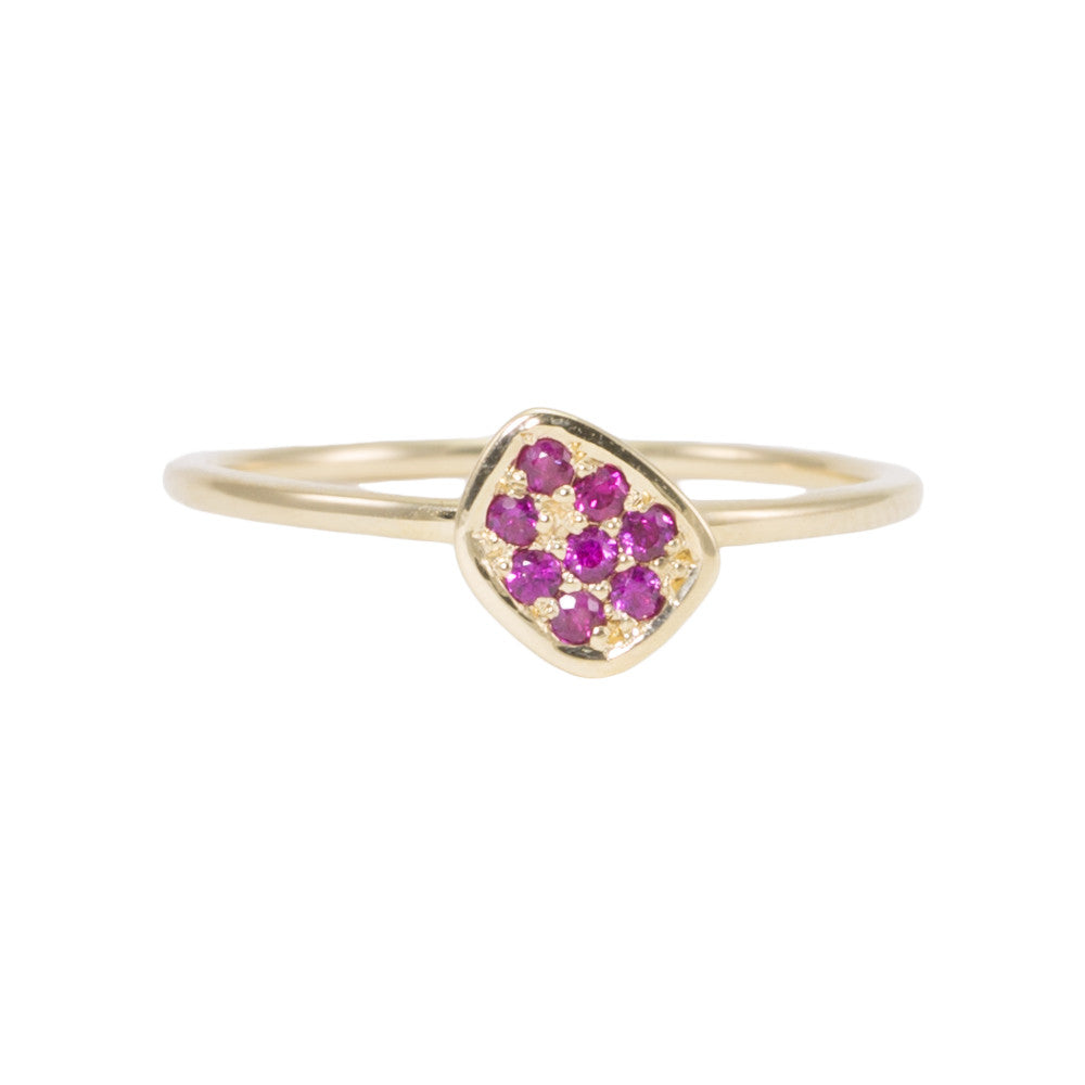 Large Pink Sapphire Pebble Ring