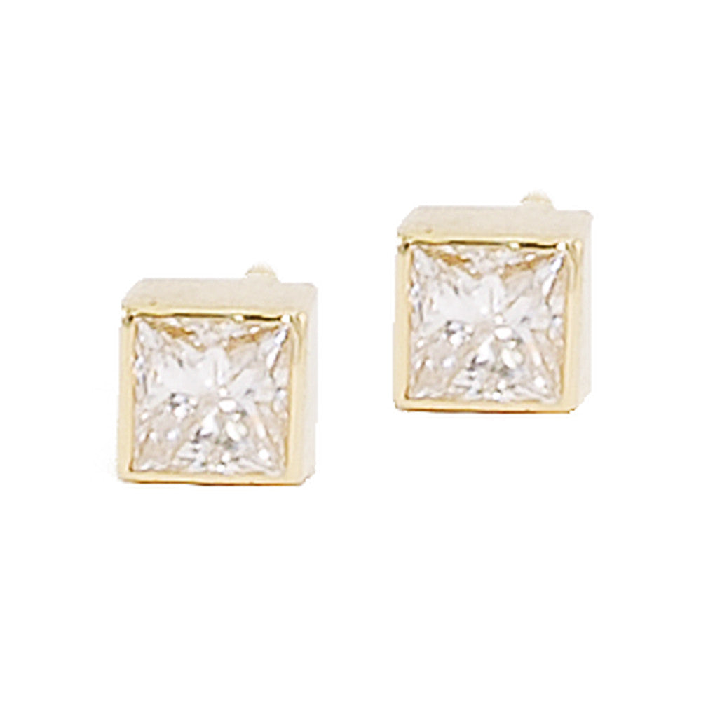 collections stud earrings square classic pair cut diamond of graff a emerald