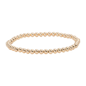 4mm Gold Filled Bead Bracelet