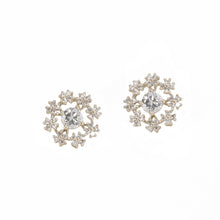 Load image into Gallery viewer, Snowflake Diamond Stud Earrings