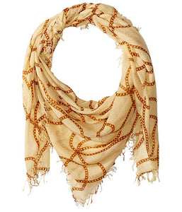 Chains Ivory Cashmere and Silk Scarf