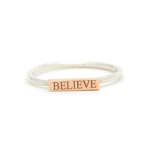 Believe Inspiration Ring