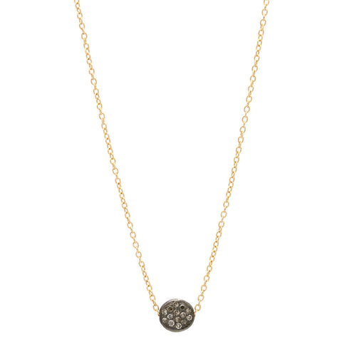 Champagne Diamond Pave Bead Necklace