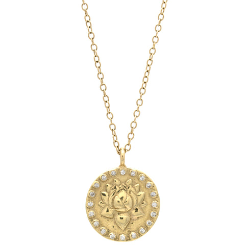 Lotus & Om Reversible Necklace