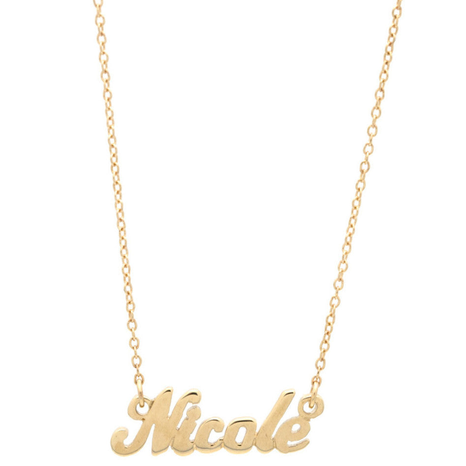 Script Name Plate Necklace