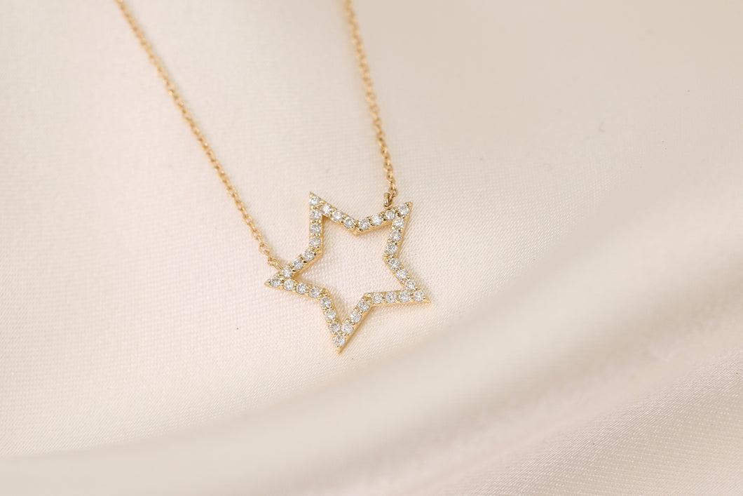 Star Cut Out Diamond Necklace