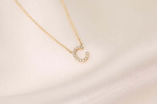 Free Standing Initial Diamond Necklace