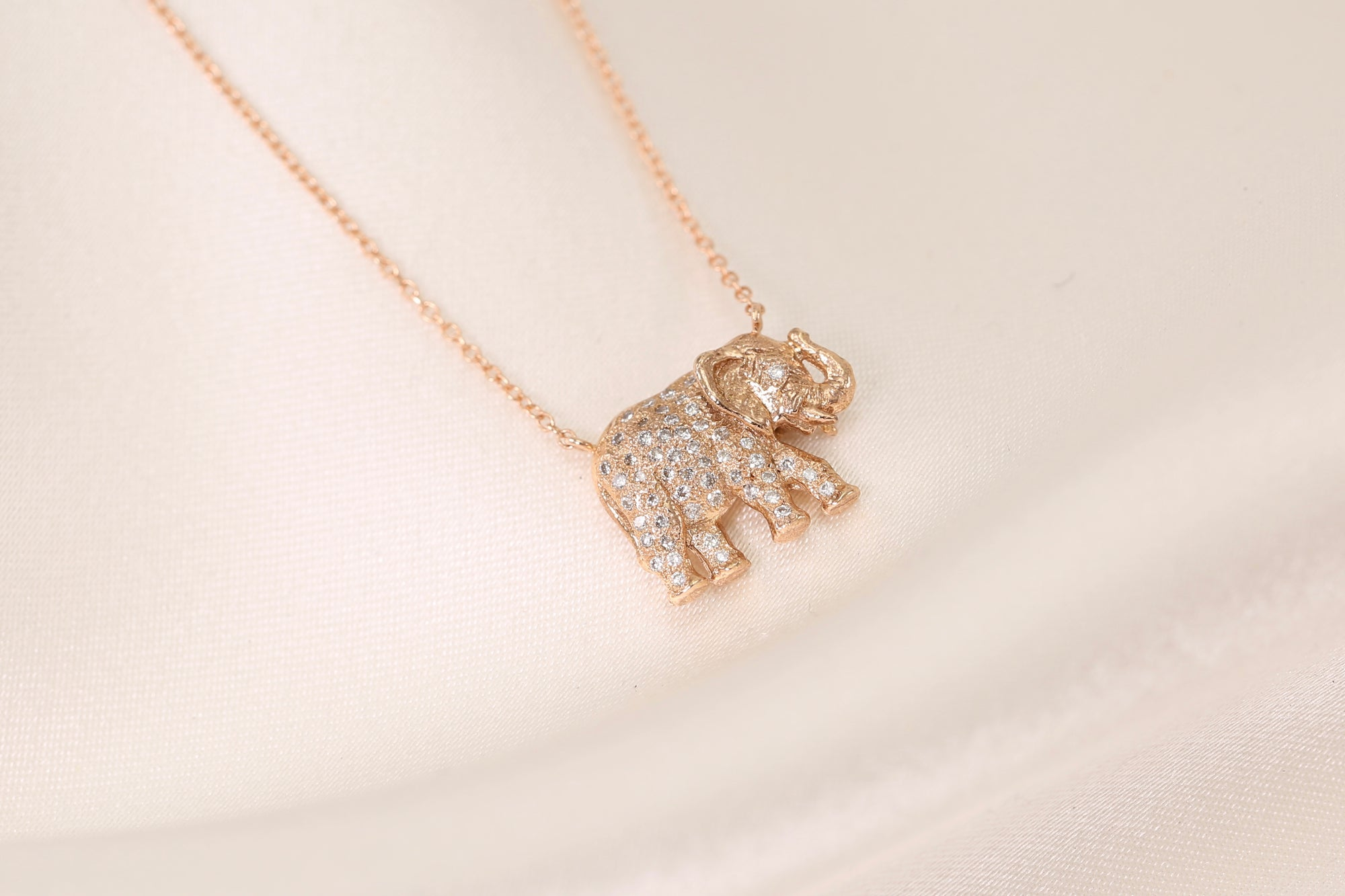 Lucky Elephant Diamond Necklace